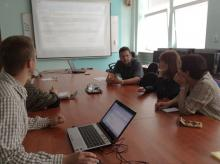 Meeting in the Department of Informatics